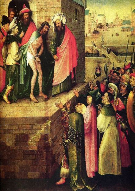 Bosch, Hieronymus: This is a Human (Ecco Homo). Religious Fine Art Print/Poster. Sizes: A4/A3/A2/A1 (00862)